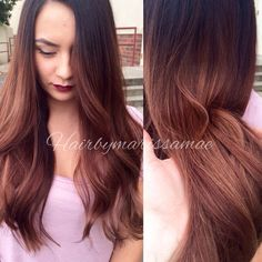 Burgundy and gold ombre. Love this color for fall. So rich a yummy
