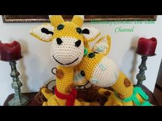 Crochet Amigurumi Giraffe Part 1 of 2 DIY Tutorial. This video tutorial will show you how to make these adorably cute amigurumi giraffes. These giraffes are special, because the necks are malleable. Your friends and family will definitely love these fun, and immensely cute, giraffes.