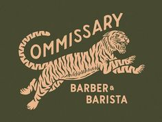 Commissary Barber & Barista designed by Daniel Sheridan. the global community for designers and creative professionals. Vintage Graphic Design, Graphic Design Typography, Graphic Design Illustration, Illustration Art, Font Design, Design Art, Branding Design, Decoration Design, Type Design