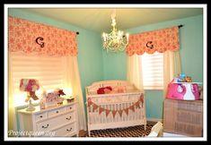Monogramed Baby Nursery Curtain Tutorial