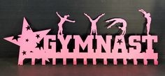 Gymnastics Ribbons Holder: Personalized Medals Holder: #gymnastics-medal-holder