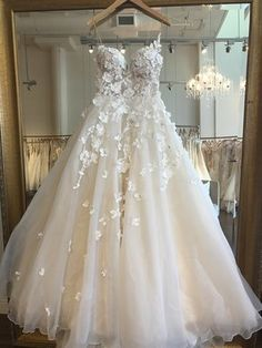 - Spaghetti Strap Appliques – TheCelebrityDr… Check more at wedding.ihredeko Source by trendweddingdresses - Bridal Skirts, Wedding Dresses With Straps, Wedding Dress Trends, Wedding Dresses Plus Size, Lace Wedding Dress, Dream Wedding Dresses, Bridal Gowns, Butterfly Wedding Dress, Floral Wedding