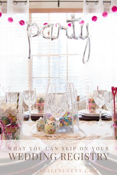 What You Can Skip on Your Wedding Registry // Cathy Nugent Weddings // Atlanta Certified Wedding Planner // cathyscalfnugent.com