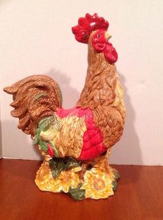 Vintage Metal Rooster En Hen Miniature Figures Statues Farm Barn Decor Pinterest Hens And Country