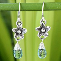 Shop for Sterling Silver 'Rainforest Dew' Blue Topaz Earrings (Thailand). Free Shipping on orders over $45 at Overstock.com - Your Online World Jewelry Outlet Store! Get 5% in rewards with Club O!