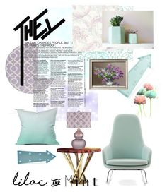 """""""Lilac and mit"""" by nikki15649 ❤ liked on Polyvore featuring interior, interiors, interior design, home, home decor, interior decorating, Malabar, Normann Copenhagen, New Look and DENY Designs"""
