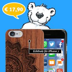 CouldBeWOOD iPhone 7 Holzhülle - Mandala