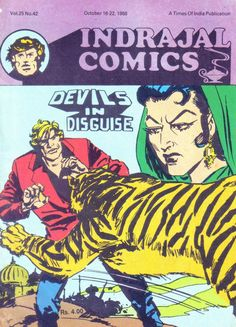 Indrajal Comics - Devils In Disguise (Issue) Vintage Comic Books, Vintage Comics, Comic Book Covers, Comic Book Heroes, Indrajal Comics, Cowboy Films, Western Comics, Comic Book Style, Classic Comics