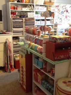 craft storage - ribbons