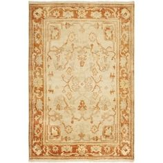 Shop for Safavieh Hand-knotted Oushak Ivory/ Rust Wool Rug (4' x 6'). Get free shipping at Overstock.com - Your Online Home Decor Outlet Store! Get 5% in rewards with Club O!