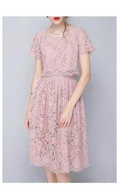 Pin by Mg Sasmita on my dreams in 2019 Dressy Dresses, Modest Dresses, Short Dresses, Dresses For Teens, Chiffon Dress, Dress Skirt, Lace Dress, Dress Brokat, Estilo Retro