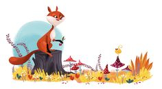 <h1>The fox and the chick</h1><p></p><div>Customer: Poznaika Magazine (Kiev, 2013)</div>