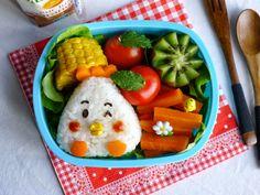 Recettes pour mon bentô: Onigiri poulet (bentô de Pâques)