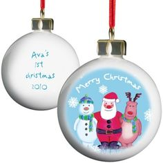 Personalised China Christmas Bauble