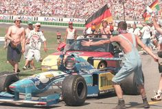 Michael Schumacher (GER) (Mild Seven Benetton Renault), Benetton B195 - Renault RS7 3.0 V10 . 1995 German Grand Prix, Hockenheimring