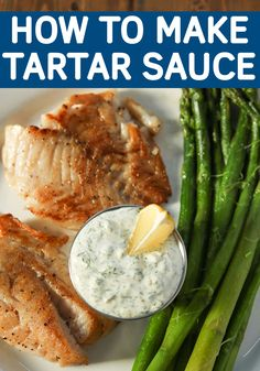 Do you know how to make a great tartar sauce? All you gotta do is dump and stir! Anybody can do that and have something awesome to serve with fish. This recipe is a simple and classic version. (For the low-carb and keto crowd you could thin this sauce out Sauce Recipes, Fish Recipes, Seafood Recipes, New Recipes, Holiday Recipes, Vegan Recipes, Dinner Recipes, Cooking Recipes, Favorite Recipes