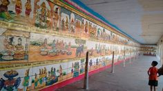 Complete Epic....Ramayana...Painted on wall....Great place...Tamilnadu,India