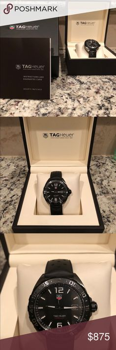 Tag Heuer Formula 1 Tag Heuer Formula 1  model  WAZ1110.FT8023 Black strap. Black dial. Sapphire crystal. Water resistant: 200 meters Tag Heuer Accessories Watches
