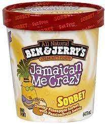 Ben & Jerry's Jamaican Me Crazy Sorbet Funny Food Memes, Food Humor, Ice Cream Flavors List, Ben And Jerrys Ice Cream, Milkshakes, My Crazy, Sorbet, Beverages, Wallpaper