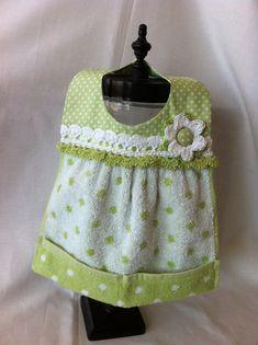 Baby bib made with a hand towel cute idea