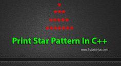 C++ Program to Print Triangle of Stars