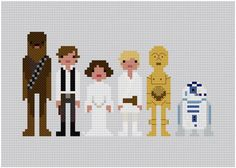 Star-wars cross stitch - love this!! pattern is for sale on etsy!