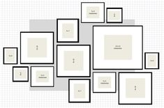 Image result for gallery wall template