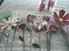 Flores con botellas pet