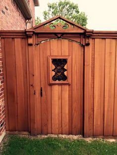how to build a cedar fence door