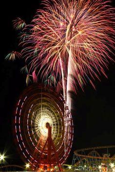 Ferris Wheel + Fireworks