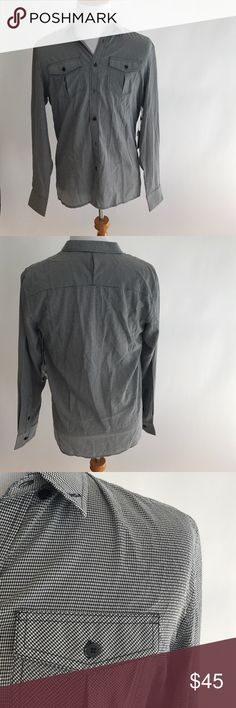 Men's button down shirt! Zak You Are Everything men's long sleeves button down shirt! Size large. 20% polyester 40% nylon and 40% cotton! Please let me know if you have any questions! Zak Shirts Casual Button Down Shirts