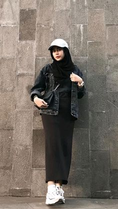 Casual Sporty Outfits, Casual Hijab Outfit, Simple Outfits, Modest Outfits, Modern Hijab Fashion, Hijab Fashion Inspiration, Look Fashion, Fashion Outfits, Mode Ulzzang