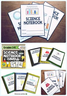 {FREEBIE} This resource includes 6 covers for interactive science notebooks.They are perfect for grades 3-5.