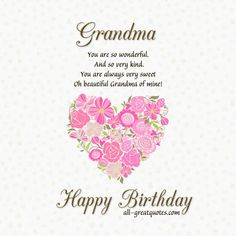 Grandma Happy Birthday Wishes Quotes Images Pictures