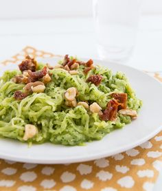 Recipe | Spaghetti Squash with Garlicky Kale Pesto and Sun-Dried Tomatoes