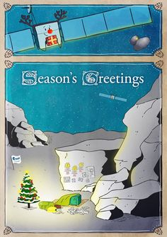 "Season's greetings from ESA's Rosetta mission. 2014 was a busy year for them. Mona Evans, ""Rosetta the Comet Chaser"" http://www.bellaonline.com/articles/art182574.asp"