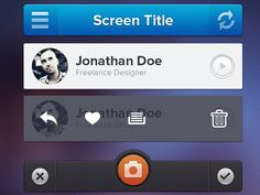 iPhone应用UI组件PSD源文件 | 蓝调设计