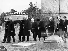 The Funeral of Dame Agatha Christie, the detective novelist, at Cholsey Parish Church, Berkshire. Her Coffin is followed by her husband Max Mallowan, her daughter Mrs R. Hicks and her grandson Matthew Prichard, who carries flowers. 1976