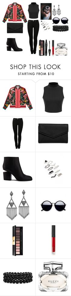 """""""Colorful"""" by alexandra-ac on Polyvore featuring moda, Gucci, MM6 Maison Margiela, LULUS, Alexander Wang, Topshop, House of Harlow 1960, Yves Saint Laurent, Lancôme ve NARS Cosmetics"""