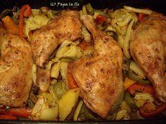Pulpe de pui cu legume la cuptor (7)
