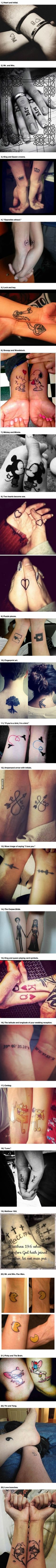 Whether You Like Tattoos Or Not, How These 23 Couples Sealed Their Love Is Touching.