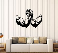 Vinyl Wall Decal Muscle Bodybuilding Fitness Gym Sports Stickers (434ig)