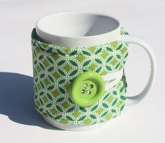 Fabric Cup Cozy Mug Cozy Coffee Cozy Tea Cozy by NuNuBoutique
