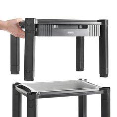 Storage Shelves Stand Wheeled Portable Office TV Desk Shelving Unit New #Unbranded