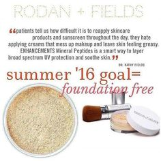 When it comes to achieving healthy, clear, foundation-free skin, even the most rigorous clinical skincare routines take time to show results. That's why we created a new treat and protect product that offers both immediate and long-term skin-enhancing benefits that work with any Rodan + Fields Multi-Med™ Therapy regimen. ENHANCEMENTS Mineral Peptides Broad Spectrum SPF 20 Support's skin's resiliency to environmental aggressors and irritants and provides sun protectio