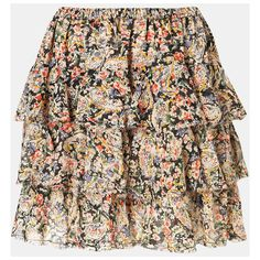Topshop 'Lucy' Paisley Print Miniskirt Multi 4 ($60) ❤ liked on Polyvore