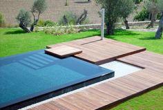 #pool Luxury Swimming Pools, Luxury Pools, Dream Pools, Swimming Pool Designs, Piscina Rectangular, Rectangular Pool, Design Cour, Moderne Pools, Swiming Pool