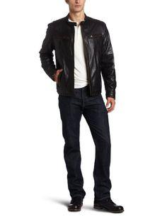 Amazon.com: Levi's Men's Leather Racer Jacket: Clothing