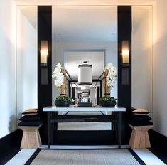 Furniture interieur livingroom staircase couture luxueux luxe entry way des Decor, Art Deco Interior, Interior Deco, Luxury Interior, Interior Design Styles, Interior Design, Hallway Designs, Home Decor, House Interior