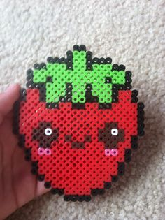 Perler bead strawberry
